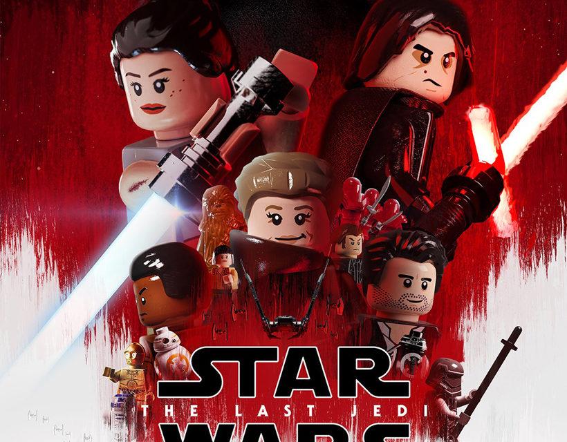 Póster de Star Wars: Los Últimos Jedi en versión LEGO