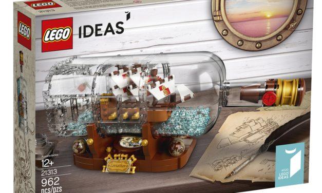 Nuevo set de LEGO Ideas: 21313 Ship in a Bottle, a la venta en Febrero